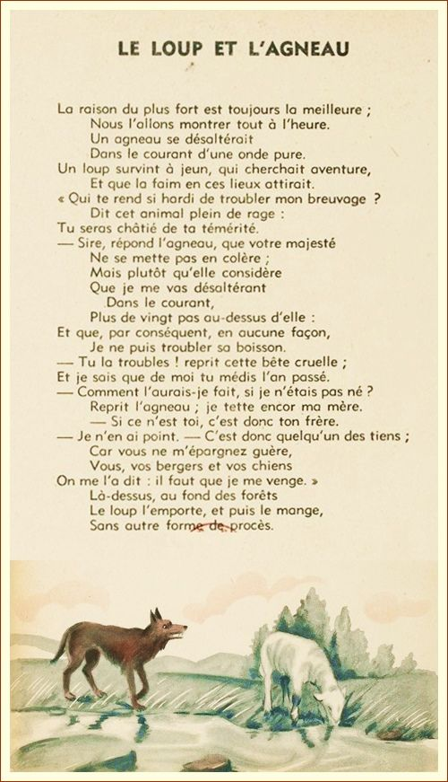 Le Loup Et L'agneau La Fontaine : l'agneau, fontaine, رئيس, وزن, ممر, Agneau, Fontaine, Outofstepwineco.com
