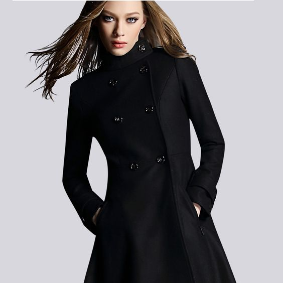 womens black wool winter coat - Google Search | Clothes