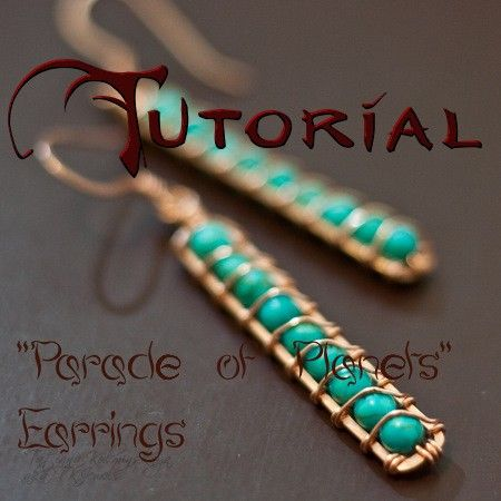 TUTORIAL for Parade of Planets Earrings by tkjewels on Etsy, $7.00