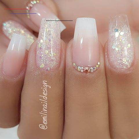 Trendy Acrylic Nails With Jewel For Weddings 0