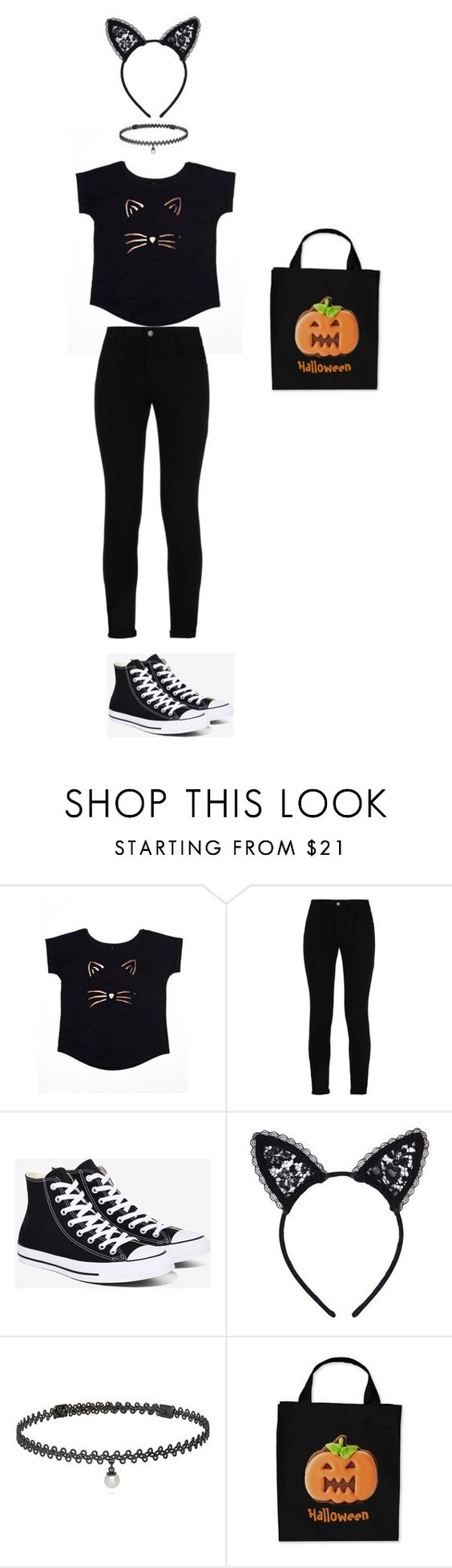 """""""Late Halloween"""" by animeworld ❤ liked on Polyvore featuring STELLA McCARTNEY, Converse, Fleur du Mal and BERRICLE"""