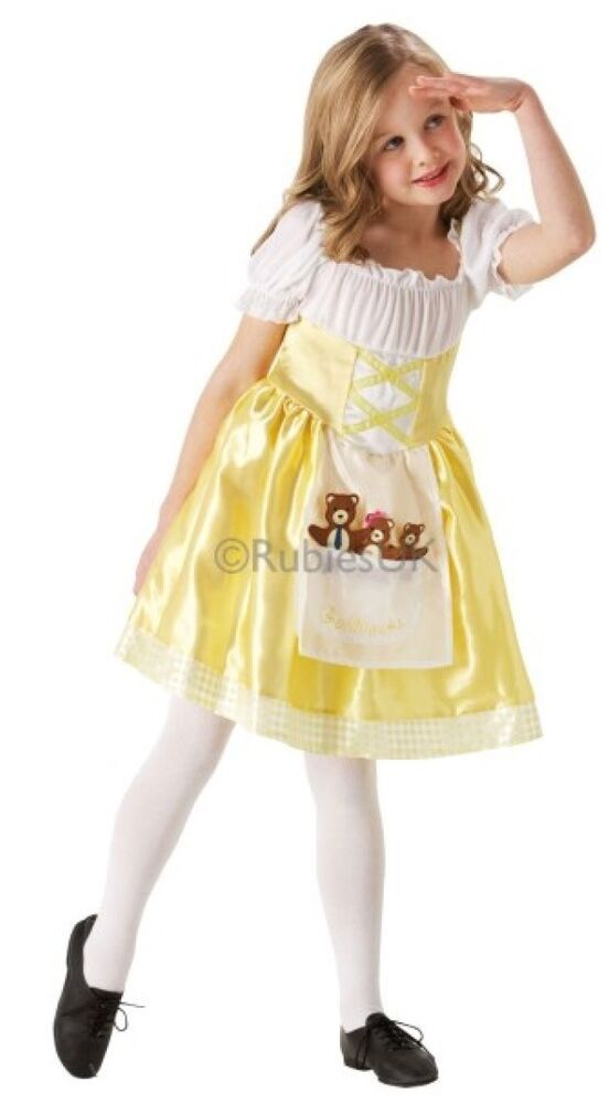 Golidlocks Girls Fancy Dress Fairy Tale Story Book Day Childrens Kid Costume New