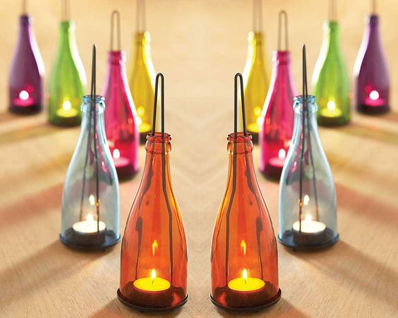 Garden Bottle Lanterns: Wine Bottle Lanterns, Wine Bottle Garden, Garden Lanterns, Outdoor Lighting, Garden Bottle Lanterns Xl Jpg