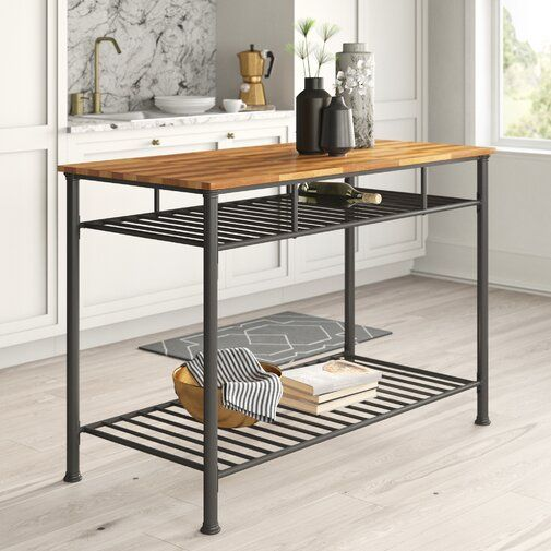 Tania Prep Table With Wood Top Furniture Furniture Styles Kitchen Cart