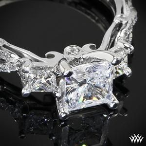 Verragio Twisted Shank Princess 3 Stone Engagement Ring