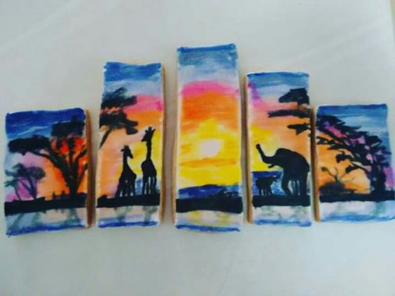 Galletas paisaje pintada a mano en royal icing