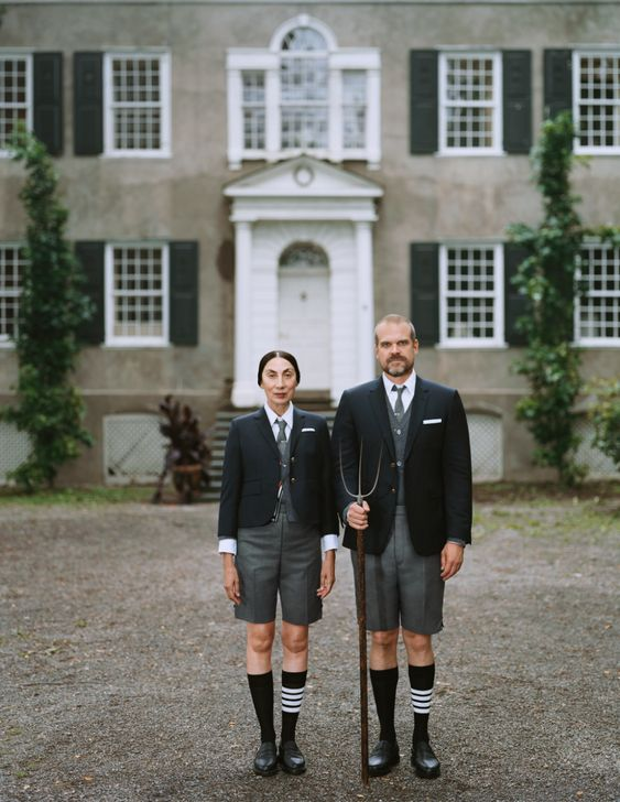 Thom Browne's latest project features Ahn Duong and David Harbour.