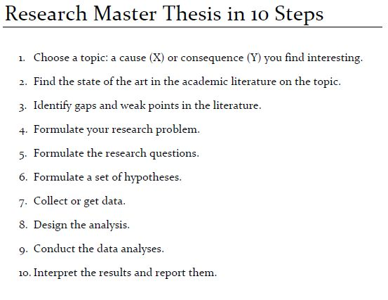 Writing master thesis papers