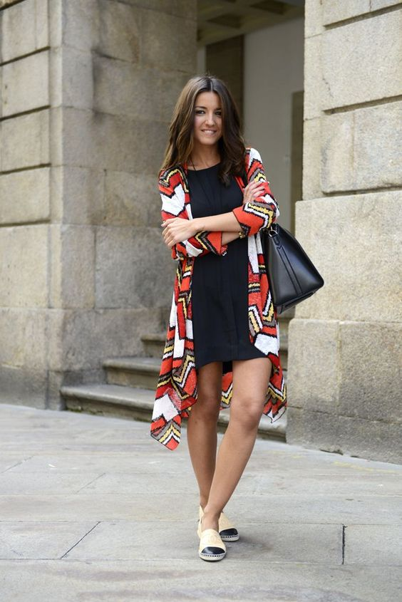 red white and brown tribal cardigan