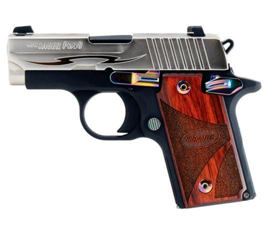 Sig P238 Tribal 380 ACP Rosewood Grips Night Sights 7 Round