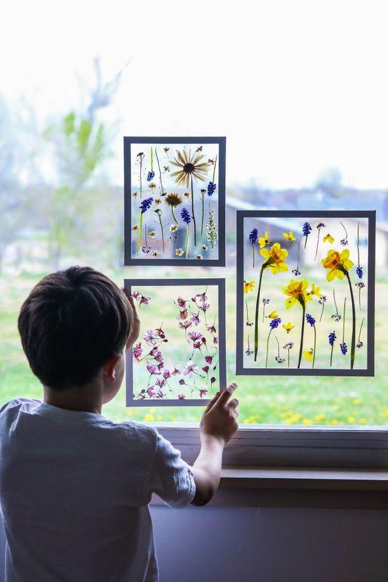 Mother's day craft ideas : secher des fleurs au micro ondes
