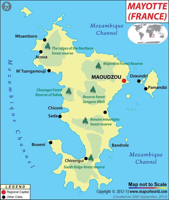 Mayotte Mapas Geograficos De Mayotte Francia Mundo