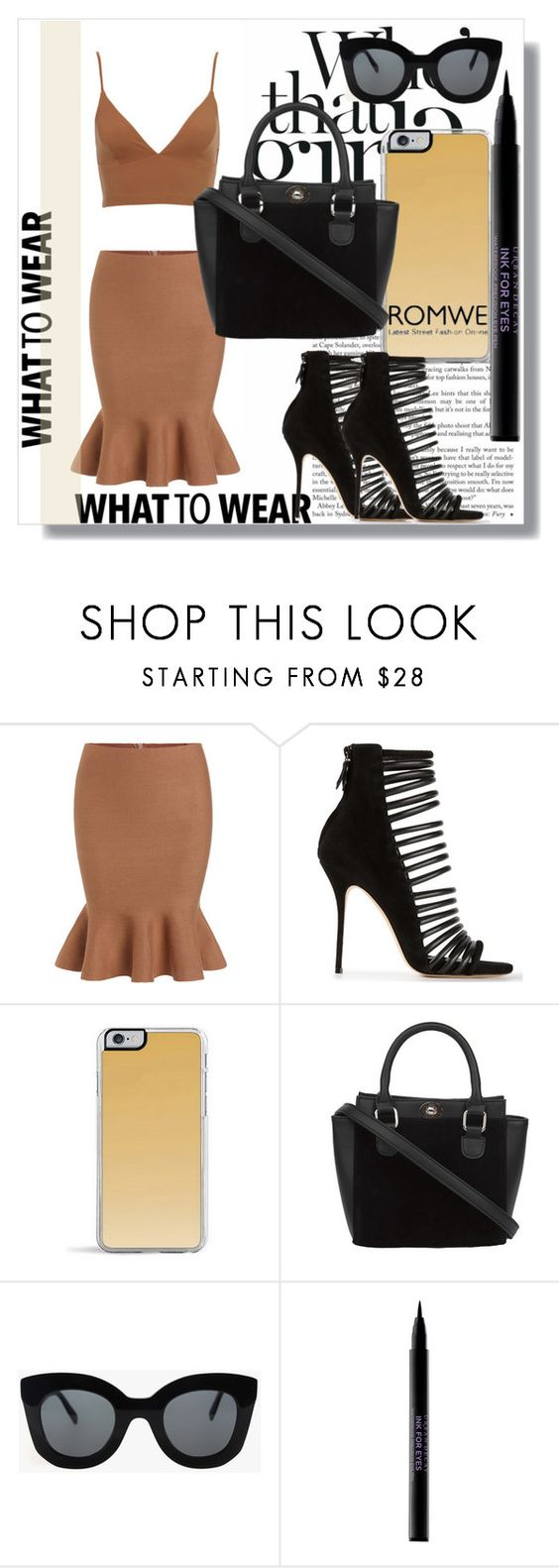 """Romwe !!"" by dianagrigoryan ❤ liked on Polyvore featuring Casadei, Zero Gravity, CÉLINE, Urban Decay, women's clothing, women, female, woman, misses and juniors"