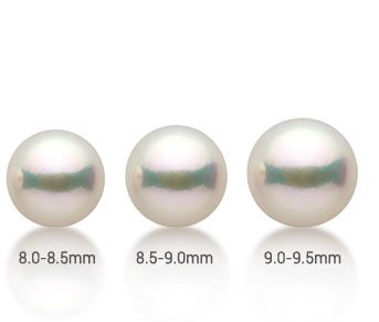 akoya pearl sizes compared to US dime