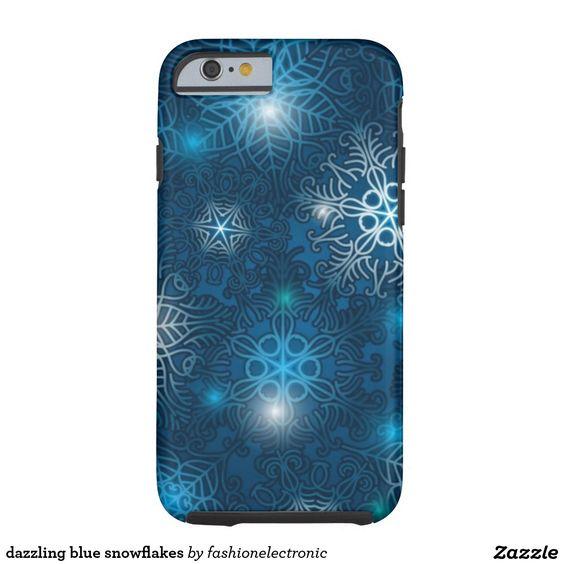 dazzling blue snowflakes tough iPhone 6 case