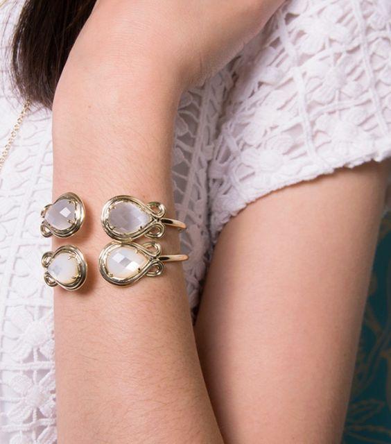 Elegant, Pale Pink Pinch Bracelet