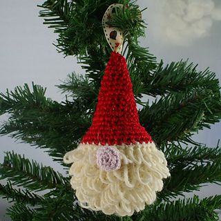 Free Crochet Pattern Christmas Bauble : Free Father Christmas Bauble Crochet Pattern by Sarah ...