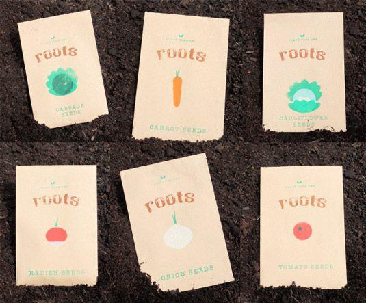 Roots Estes envelopes encantadores foram criadas pelo designer gráfico Jodie Smith como parte de um pacote de novos membros colocação. Estes pacotes de sementes, projetados individualmente para refletir seu conteúdo, foram todos impressos em serigrafia.