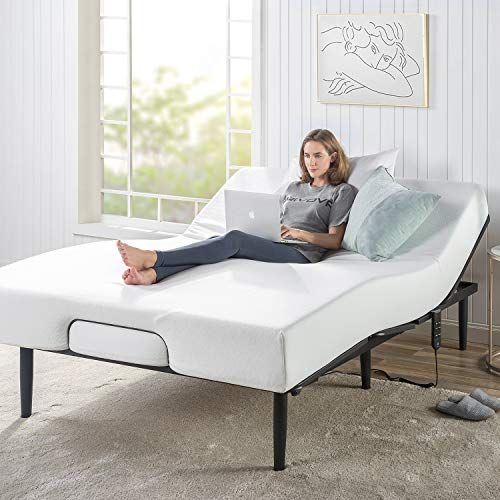 Zinus Jared Adjustable Bed Frame Base Mattress Foundation With Remote Whisper Quiet Motorized Movement Ergonomic Positioning For Better Health And Rel 2020