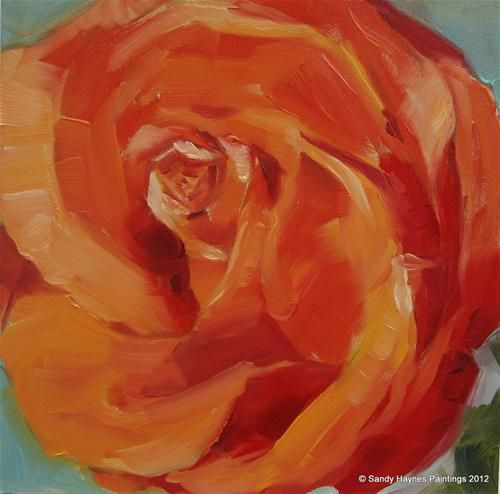 """Coffeebreak rose"" - Original Fine Art for Sale - © Sandy Haynes"