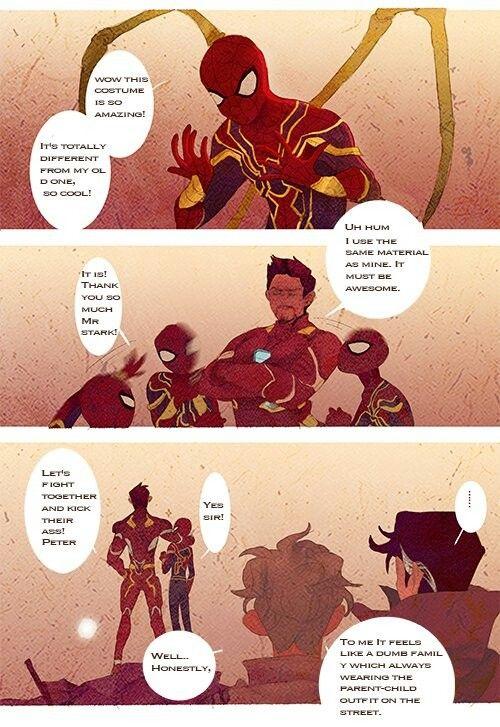 New Costume Ironspider Iron Man Starlord Dr Strange Cr Luoman Marvel Jokes Marvel Funny Avengers