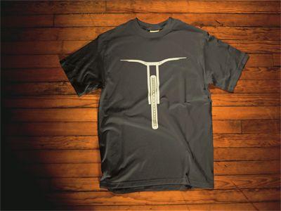 Downhill mtb frontal t-shirt, black #tshirts #downhill #mtb #mtbtshirt