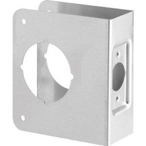 Mag Security Istall-a-lock Door Reinforcer by MAG Security. $5.25. Mag Security Istall-a-lock Door Reinforcer Backset: 2-3/8 Door Width: 1-3/4 Bore: 2-1/8 Overall Size: 4 X 4-1/2 Standard Latch Face Only Stainless Steel All items sold new in original packaging