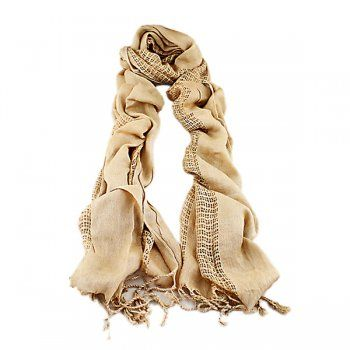 Autumn Winter Warm Scarves Hollow out Designer Rayon Solid Long