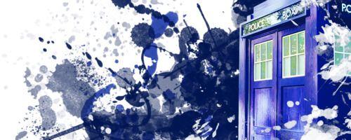 Paint Splatter TARDIS
