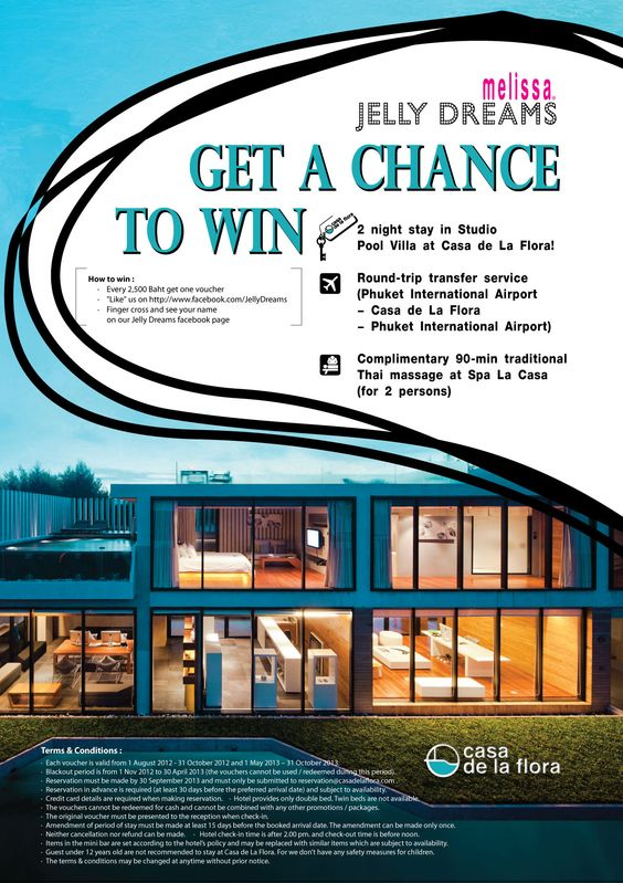 Chance to win a free stay at Casa de La Flora. Like Jelly Dreams on