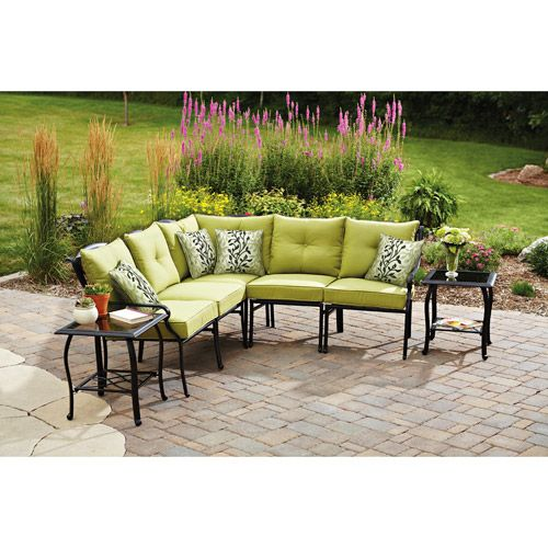 Better Homes and Gardens Hillcrest 7 Piece Outdoor Sectional Sofa