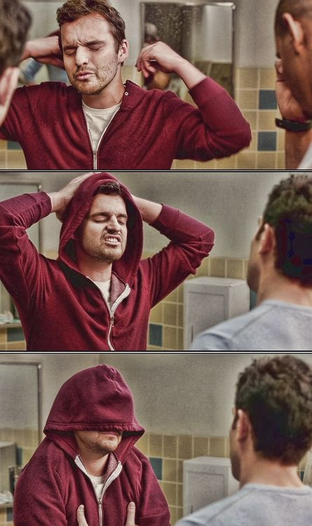 new girl,nick and his hoodie :)
