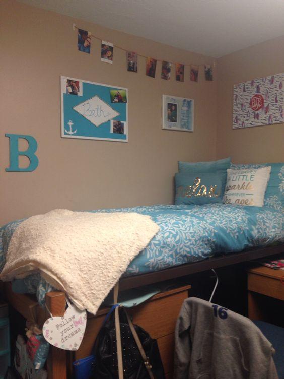 My college dorm room, did a lot of DIY myself!
