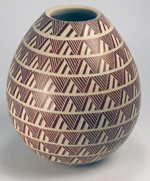 Mata Ortiz Pottery by Leonel Lopez Jr. - Sgraffito Olla