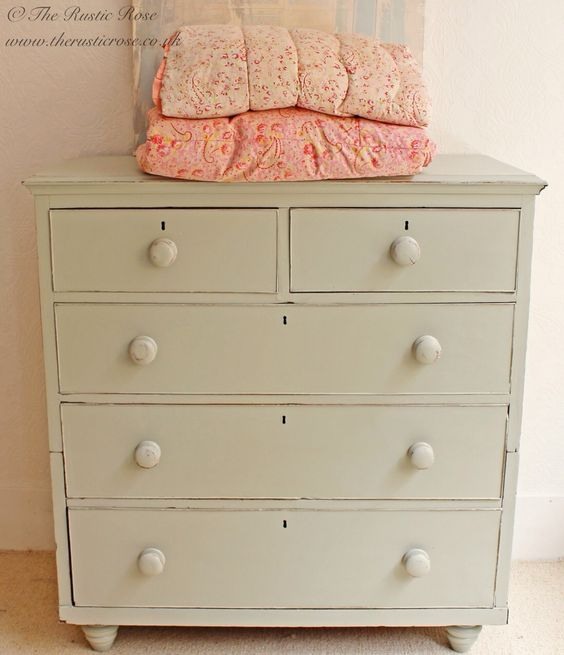 Amazing huge chest of drawers painted in #FrenchGrey by #Farrow