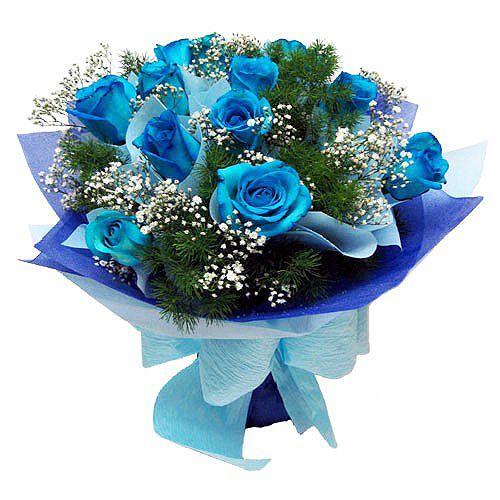 Viragkuldes Es Ajandekkuldes Mar 5000 Forinttol Blue Rose Bouquet Online Flower Delivery