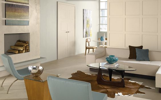 Miami Weiss & South Peach hues by Behr paints