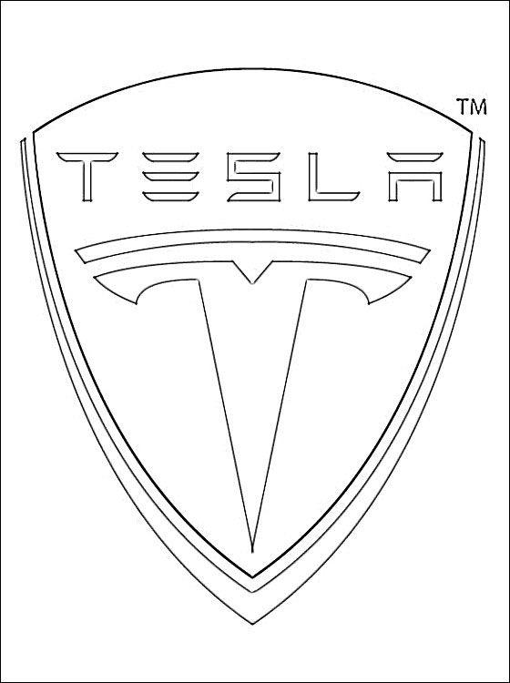 Tesla Coloring Pages : tesla, coloring, pages, Coloring, Pages:, Tesla, Logo,, Printable, Worksheets, Adults., Generator, Print, Ready., Jpg…, Tesla,, Pages