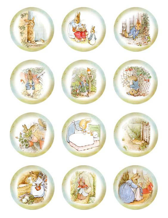 Peter Rabbit cupcake toppers.  Perfect for Easter and carrot cupcakes.