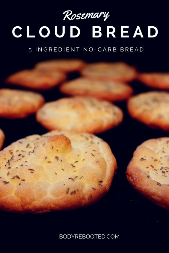 5 Ingredient, No-Carb, Rosemary Cloud Bread - I've died and gone to heaven!