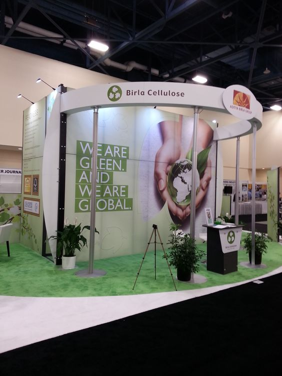 Expo Stands Shape Of You : Round shape exhibition stand design for birla cellulose