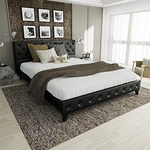 Best Seller Amolife Queen Bed Frame Platform Bed Upholstered Metal