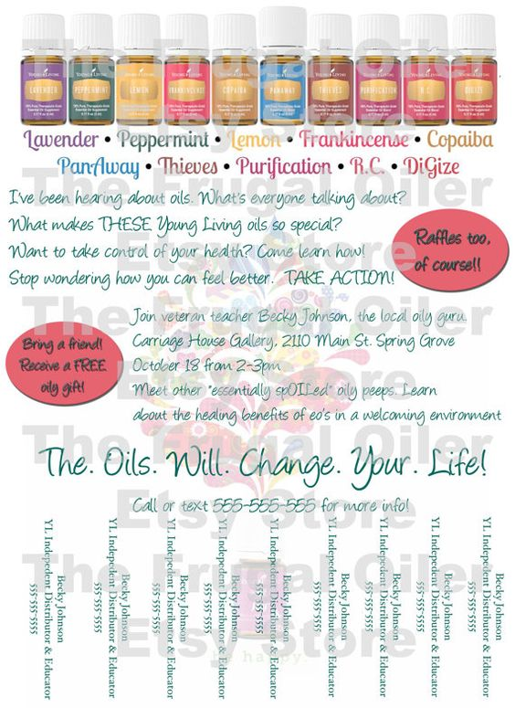 Young Living Class Flyer Tear Off by thefrugaloiler on ...
