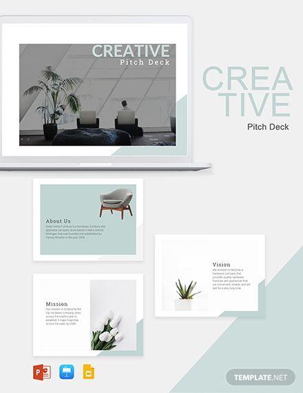 Creative Pitch Deck Template In 2020 Creative Powerpoint Templates Presentation Deck Creative