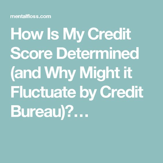 How Is My Credit Score Determined (and Why Might it Fluctuate by Credit Bureau)?…