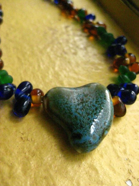 With All my HEART Czech Glass Beaded Necklace with by MindOfAsh