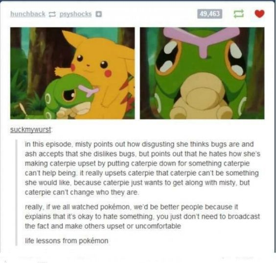 You can learn so much from any pokemon film, episode, etc