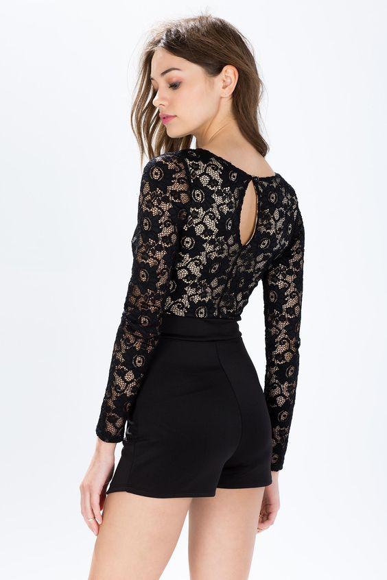 Кружевной комбинезон Размеры: S, M Цвет: черный Цена: 2210 руб.  #одежда #женщинам #комбинезоны #коопт