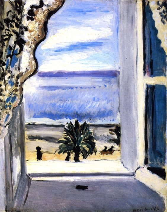 The open window henri matisse 1918 paesaggi for Henri matisse fenetre ouverte