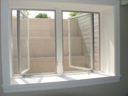 Paint concrete outside the double egress window to brighten...
